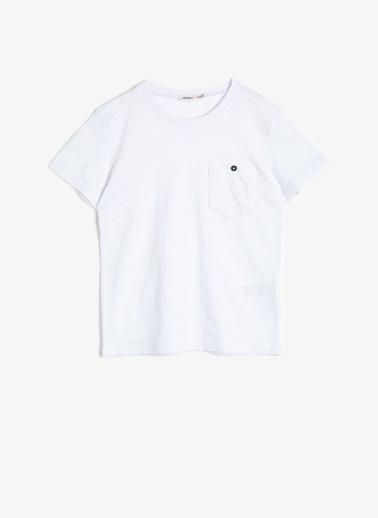 Koton Kids Bisiklet Yaka T-Shirt Beyaz